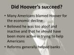 did hoover s succeed