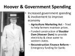 hoover government spending