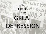 the effects of the great depression
