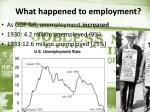 what happened to employment