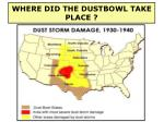 where did the dustbowl take place