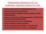 problemas generales de las empresas agropecuarias del pa s