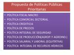 propuesta de pol ticas p blicas prioritarias