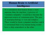 human brain vs artificial intelligence