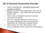 301 0 paranoid personality disorder