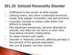 301 20 schizoid personality disorder
