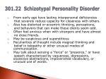 301 22 schizotypal personality disorder