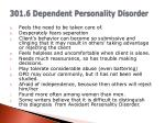 301 6 dependent personality disorder