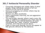 301 7 antisocial personality disorder