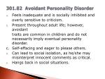 301 82 avoidant personality disorder