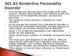 301 83 borderline personality disorder