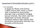 assessment of personality disorders con t1
