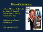 hoover s response