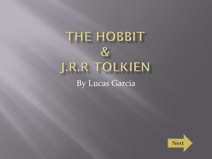 the hobbit j r r tolkien n.