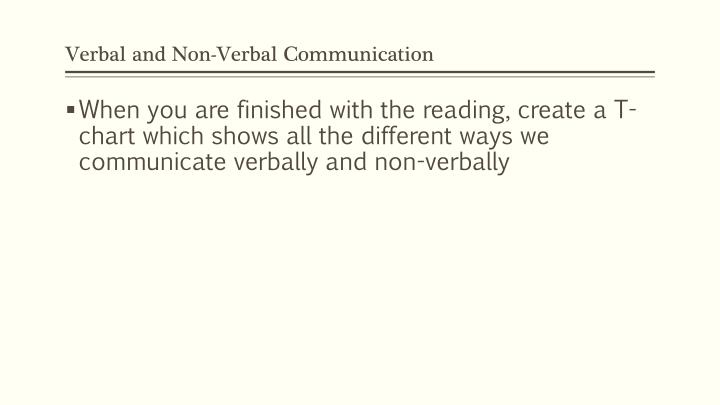 Verbal and non verbal communication1
