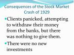 consequences of the stock market crash of 1929