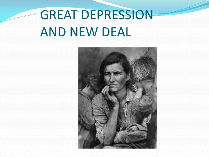 great depression and new deal n.
