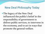 new deal philosophy today