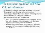 the confucian tradition and new cultural influences