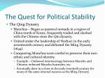 the quest for political stability1