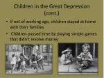 children in the great depression cont