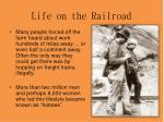 life on the railroad