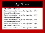 age groups