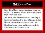 max imum value