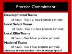 practice commitment