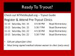 ready to tryout