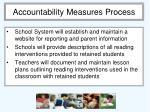 accountability measures process