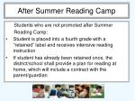 after summer reading camp