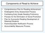 components of read to achieve