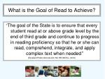 what is the goal of read to achieve