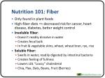 nutrition 101 fiber