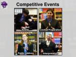 competitive events