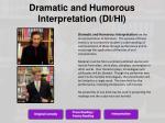 dramatic and humorous interpretation di hi