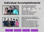 individual accomplishments