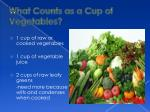 what counts as a cup of vegetables