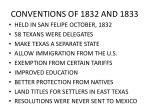 conventions of 1832 and 1833