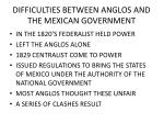 difficulties between anglos and the mexican government