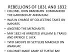 rebellions of 1831 and 1832