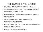 the law of april 6 1830
