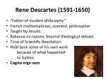 rene descartes 1591 1650