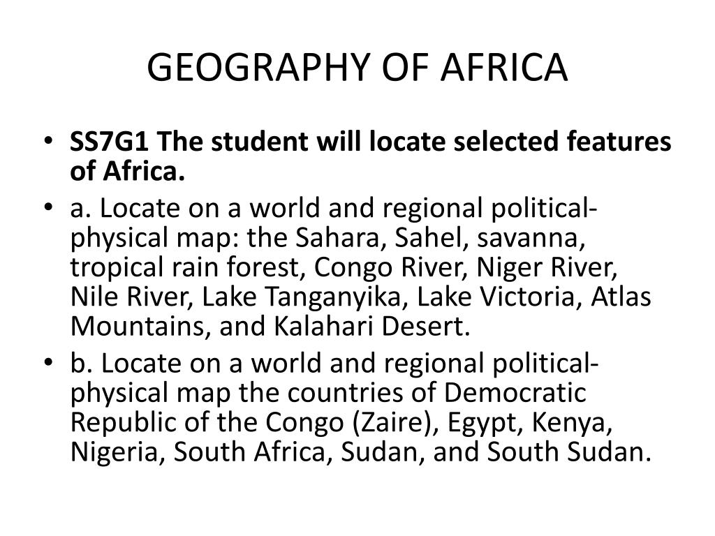 Picture of: Ppt Geography Of Africa Powerpoint Presentation Free Download Id 2118367
