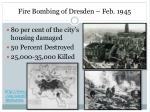 fire bombing of dresden feb 1945