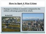 how to spot a war crime