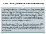 mark twain american writer late 1800s