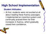 high school implementation