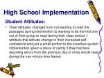 high school implementation1